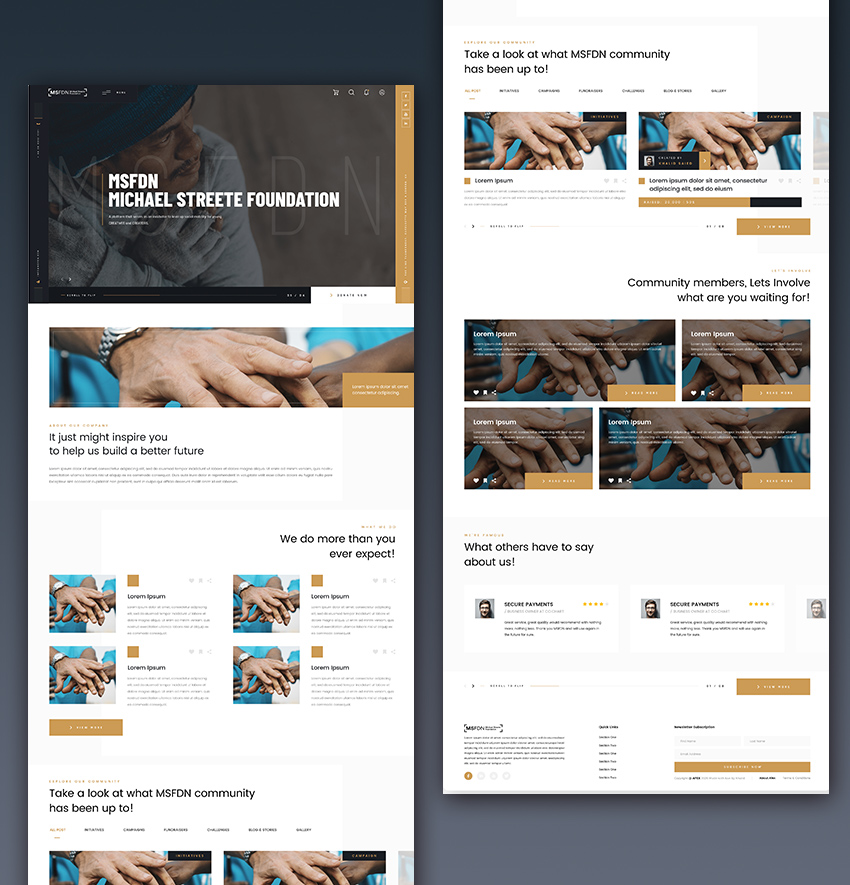 Charity Web Template adobexd free download