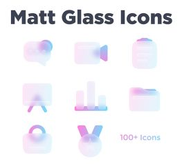 Matt Glass Icons figma free download