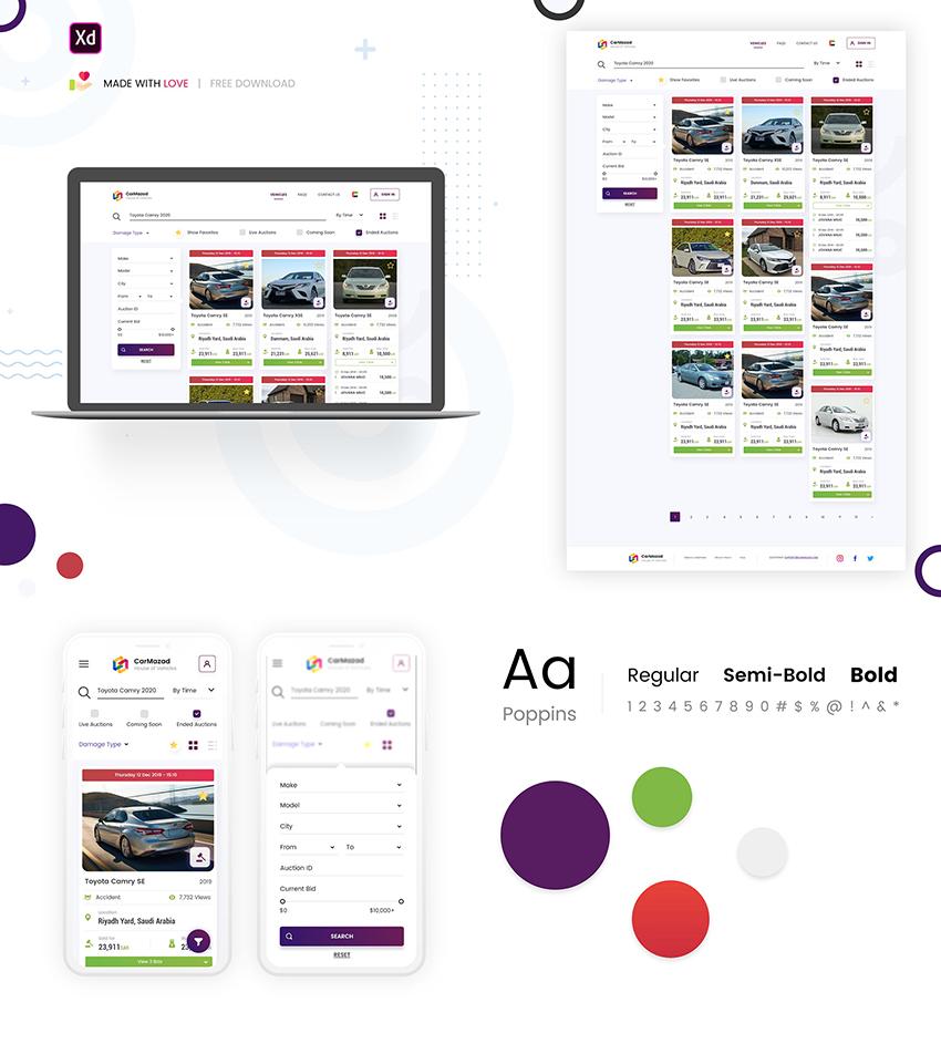 Car Auction Web UI