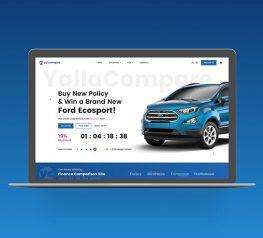 Car Insurance Web Design adobexd free download