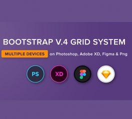 Devices Bootstrap v.4 Grid Figma, PSD, PNG, SKetch, AdobeXD