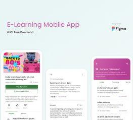 E-learning App UI Kit Figma Free Download