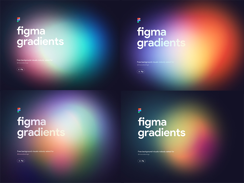 Free Gradient Backgrounds figma free download