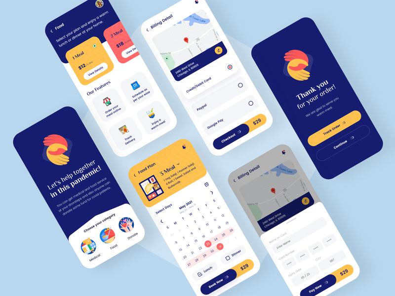 Fundraising App Design adobe xd free download