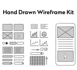 Hand Drawn Wireframe Kit figma