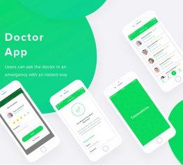 Medical Examinations App UI free psd