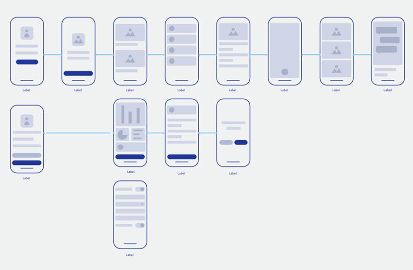 Mobile Tiny UI Wireframe AdobeXD