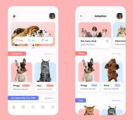 Pet Adoption UI App figma free download
