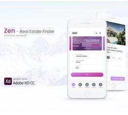 Real Estate Mobile App adobe xd free download