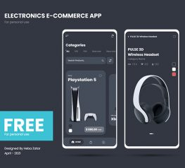Tech E-commerce App UI Kits AdobeXD