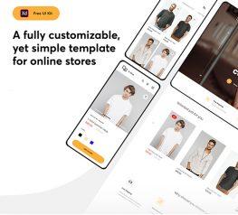 eShop App and Web UI Kit adobexd