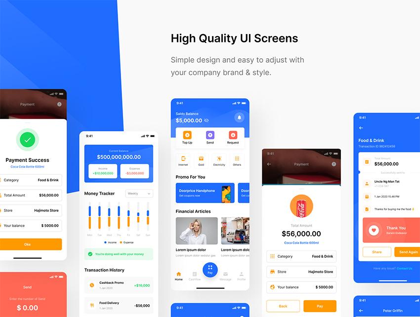 E-Wallet Mobile App UI KIT FIGMA FREE DOWNLOAD
