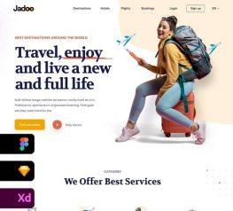 Travel Agency Landing Page figma adobexd sketch
