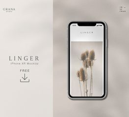 iPhone XR PSD Mockup free download