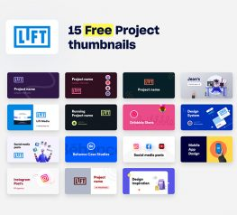 15 Free Project thumbnails figma