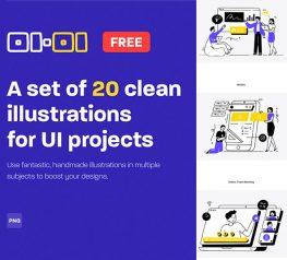 20 Free Workflow Illustrations