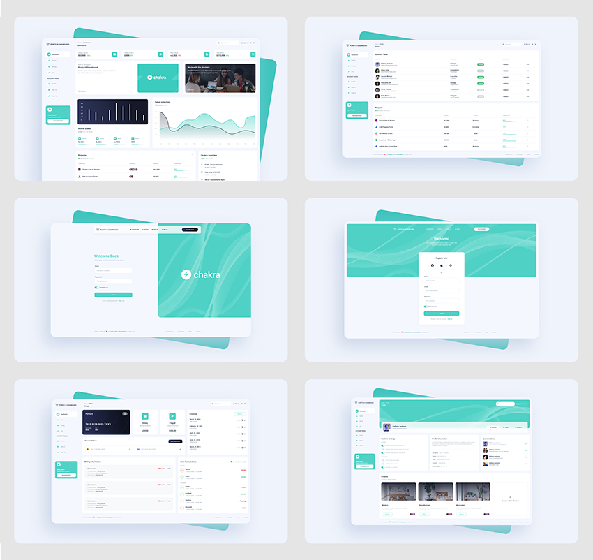 Purity UI Dashboard Kit figma free