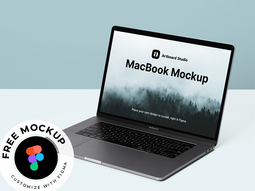 Figma MacBook Mockup free download