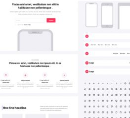Majestic Wireframe UI Kit figma free download