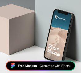 iPhone 12 Scene Mockup free download